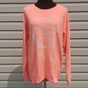 Pink size medium oversized neon orange sweatshirt